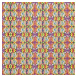 Psychedelic Design Fabric