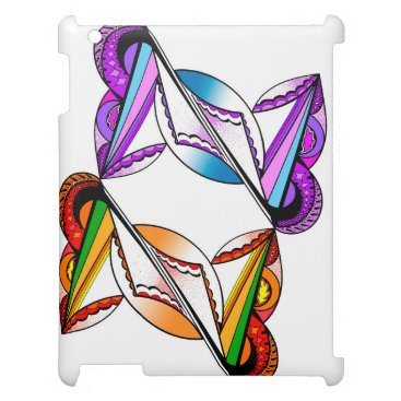 Beach Themed Psychedelic Design on Apple iPad Glossy White Case iPad Cases