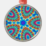 Psychedelic Design - Very Colorful Christmas Tree Ornament
