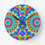 Psychedelic Design - Very Colorful Round Clock