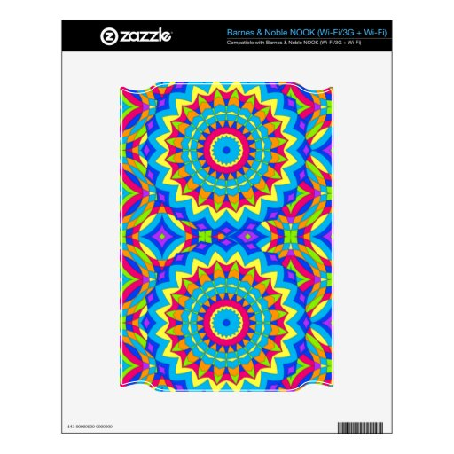 Psychedelic Design - Very Colorful NOOK Decals