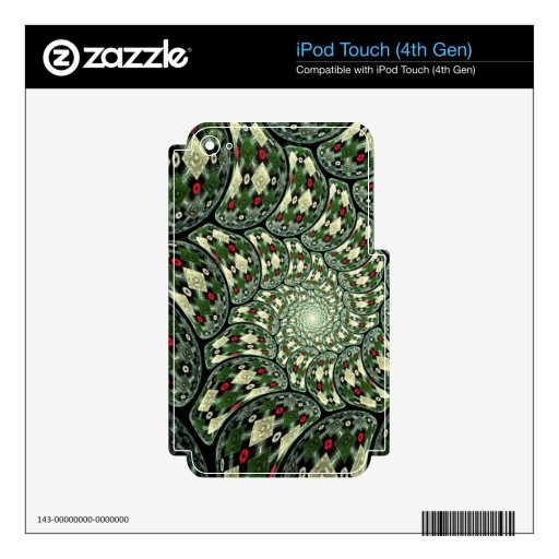 Psychedelic Design - Very Colorful iPod Touch 4G Skin