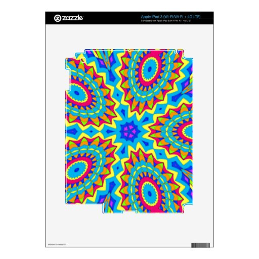 Psychedelic Design - Very Colorful Skin For iPad 3