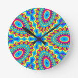 Psychedelic Design - Very Colorful Wallclock