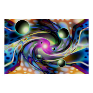 Psychedelic dimensions - print