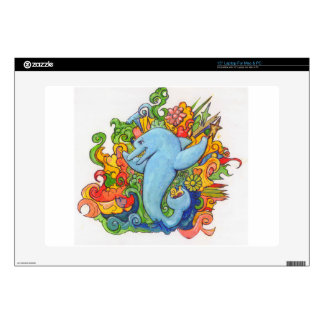 """Psychedelic Dolphin 15"""" Laptop Skin"""
