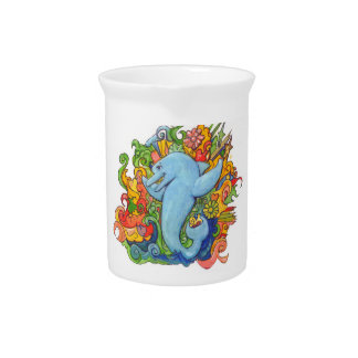 Psychedelic Dolphin Drink Pitchers