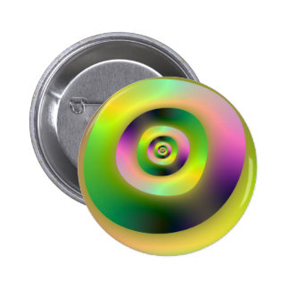 Psychedelic Doughnuts Button