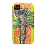 Psychedelic Dragonfly in Paradise Vibe iPhone 4 Covers