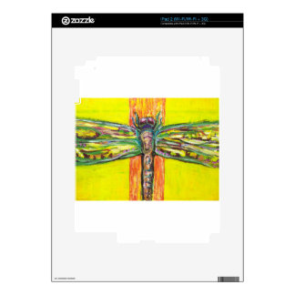 Psychedelic Dragonfly in Paradise Skin For iPad 2