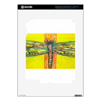 Psychedelic Dragonfly in Paradise iPad 3 Decal