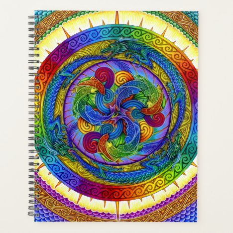 Psychedelic Dragons Rainbow Mandala Planner