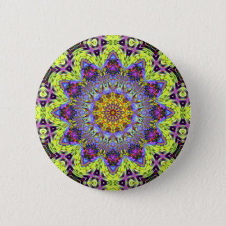Psychedelic Dude Dodecagram  Button