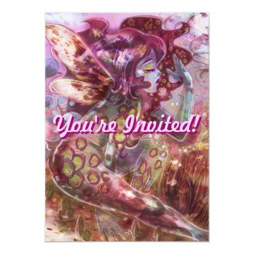 Psychedelic Earth Faerie Invitation