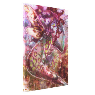 Psychedelic Earth Fairy Stretched Canvas Print