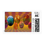 Psychedelic Easter Postage Stamp