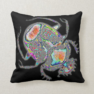 Psychedelic Egyptian scarab beetle pillow