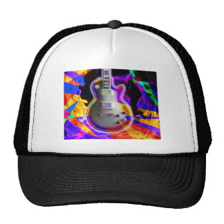Psychedelic Electric Guitar and Flames Trucker Hat