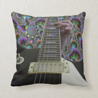Psychedelic Electric Guitar Music Pillow