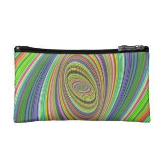 Psychedelic ellipse cosmetic bag
