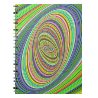 Psychedelic ellipse notebook