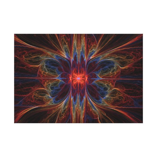 Psychedelic Emination - Wrapped Canvas
