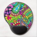 """Psychedelic Ergonomic Wrist Support Gel Mousepad<br><div class=""""desc"""">A colorful abstract psychedelic drawing.</div>"""