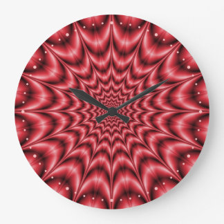 Psychedelic Explosion In Red Clock