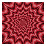 Psychedelic Explosion In Red Poster
