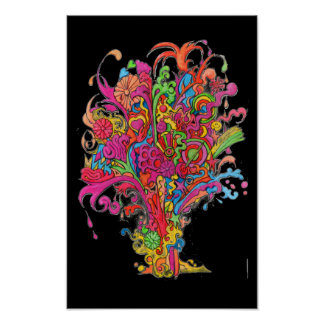 Psychedelic Explosion Poster