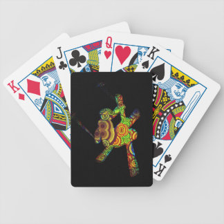 Psychedelic Extreme Ski Bicycle Playing Cards