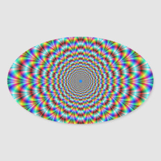 Psychedelic Eye Bender Oval Sticker