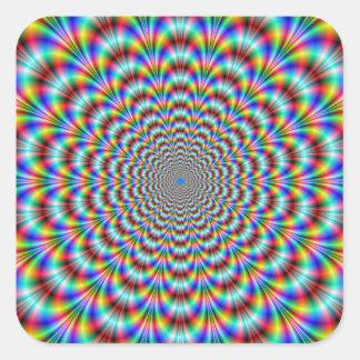 Psychedelic Eye Bender Square Sticker