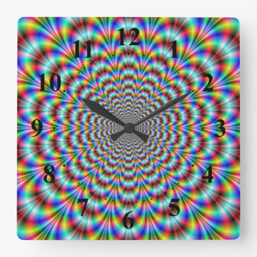 Psychedelic Eye Bender Wall Clock