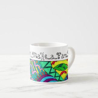Psychedelic Family Saying Espresso Coffee Mug Espresso Mug