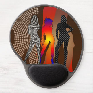 Psychedelic Fashion Show Novelty Gel Mousepad