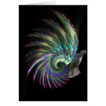 Psychedelic Feathers Card