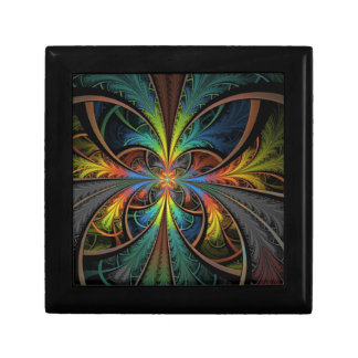 Psychedelic Feathers Trinket Box