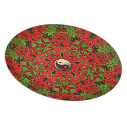 Psychedelic Festive Yin Yang Plate