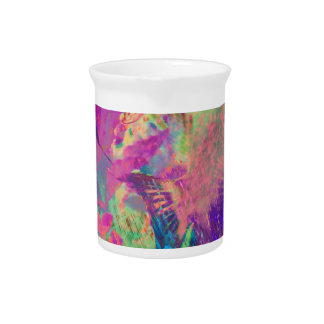 Psychedelic fish beverage pitcher