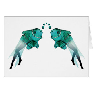 Psychedelic Fish Blue Card