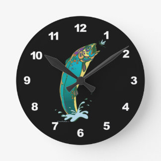 Psychedelic Fist Art Clock