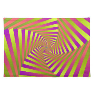 Psychedelic Five Arm Spiral Placemats Cloth Place Mat