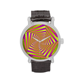 Psychedelic Five Arm Spiral Wrist Watches
