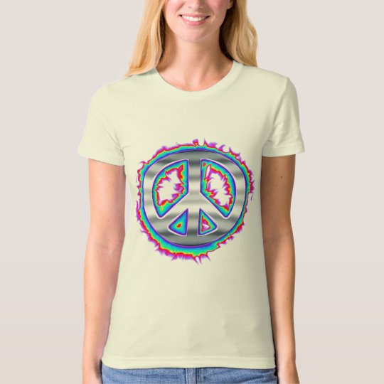 Psychedelic Flaming Peace Sign T-Shirt