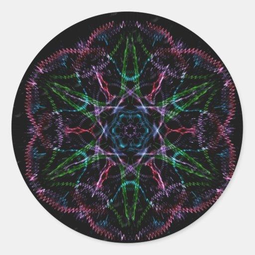 Psychedelic Flash Back Sticker