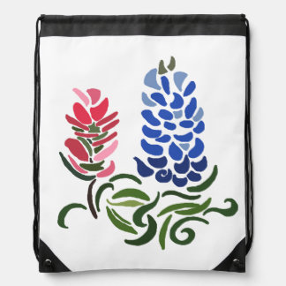 ~Psychedelic Flash~ Flowery Drawstring Backpack