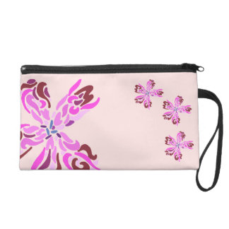 ~Psychedelic Flash~ Pink and Flowery Wristlet