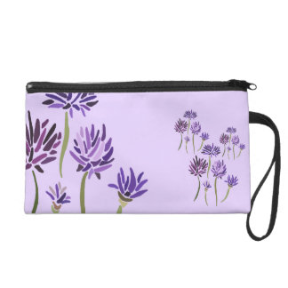 ~Psychedelic Flash~ Purple and Flowery Wristlet