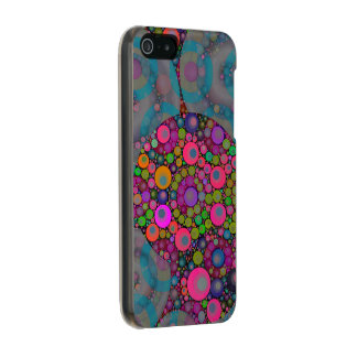 Psychedelic Floating Bubbles Metallic Phone Case For iPhone SE/5/5s